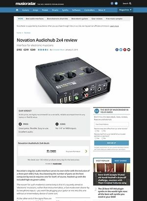 MusicRadar.com Novation Audiohub 2x4