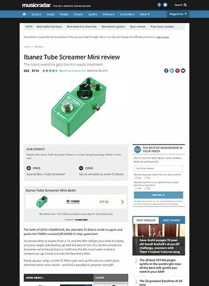 MusicRadar.com Ibanez Tube Screamer Mini