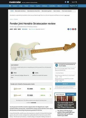 MusicRadar.com Fender Jimi Hendrix Stratocaster