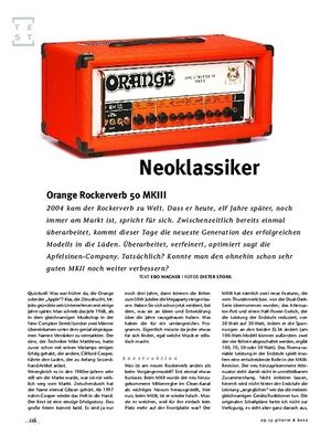 Gitarre & Bass Orange Rockerverb 50 MKIII