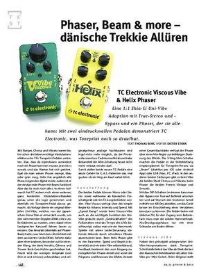 Gitarre & Bass TC Electronic Viscous Vibe & Helix Phaser