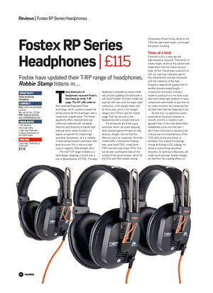 Future Music Fostex RP Series Headphones