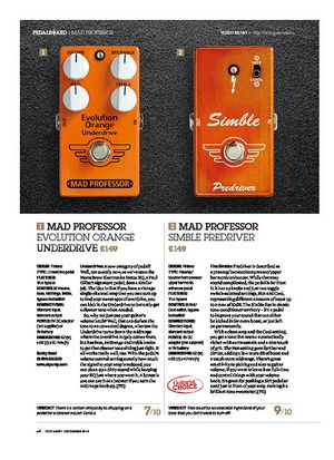 Guitarist Mad Professor Simble Predriver