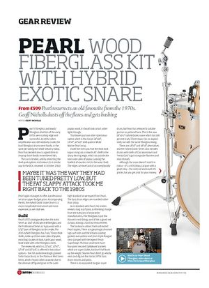Rhythm Pearl Wood Fiberglass Kit With Hybrid Exotic Snare