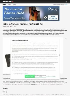 Bonedo.de Native Instruments Komplete Kontrol S88