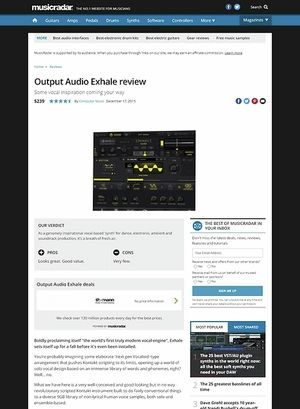MusicRadar.com Output Audio Exhale