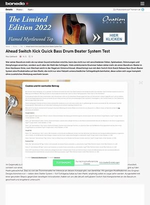 Bonedo.de Ahead Switch Kick Quick Bass Drum Beater System Test