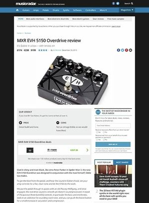 MusicRadar.com MXR EVH 5150 Overdrive