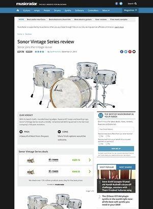 MusicRadar.com Sonor Vintage Series