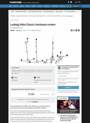 MusicRadar.com Ludwig Atlas Classic Hardware