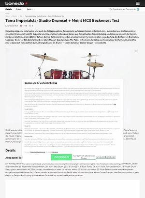 Bonedo.de Tama Imperialstar Studio Drumset + Meinl MCS Beckenset