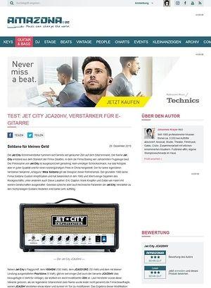 Amazona.de Test: Jet City JCA20HV, Verstärker für E-Gitarre