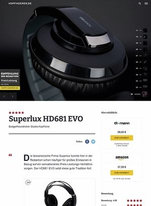 Kopfhoerer.de Superlux HD-681 Evo