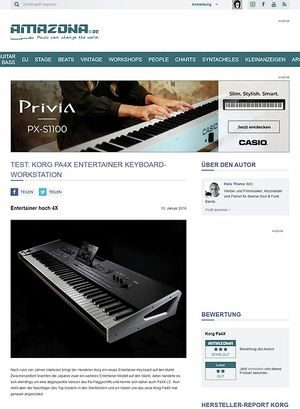 Amazona.de Test: Korg Pa4X, Entertainer Keyboard