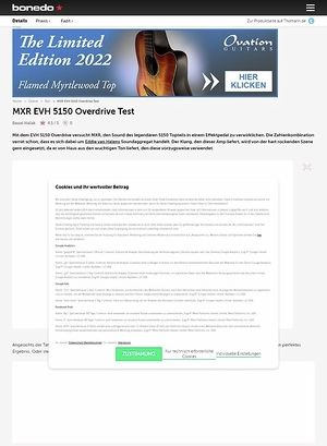 Bonedo.de MXR EVH 5150 Overdrive