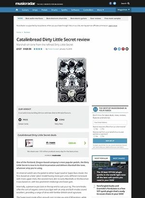 MusicRadar.com Catalinbread Dirty Little Secret