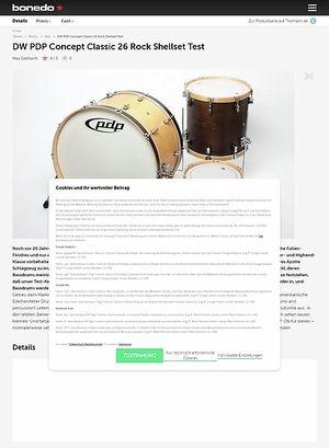 Bonedo.de DW PDP Concept Classic 26 Rock Shellset