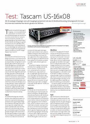 Beat Tascam US-16x08