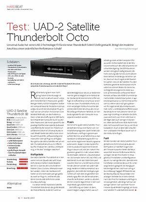 Beat UAD-2 Satellite Thunderbolt