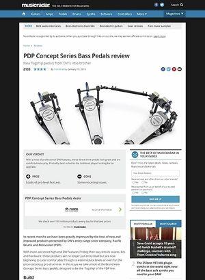MusicRadar.com PDP Concept Series Bass Pedals