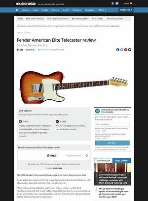 MusicRadar.com Fender American Elite Telecaster