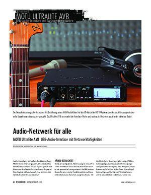 Sound & Recording MOTU Ultralite AVB - USB-Audio-Interface mit Netzwerkfähigkeiten