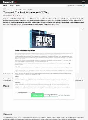 Bonedo.de Toontrack The Rock Warehouse SDX