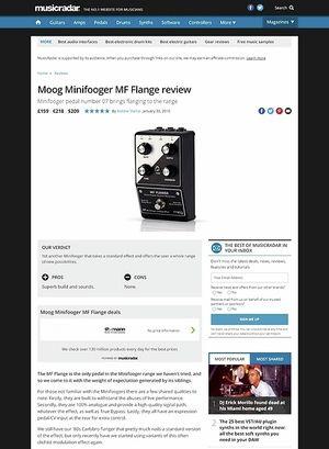 MusicRadar.com Moog Minifooger MF Flange