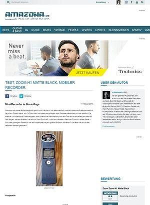 Amazona.de Test: Zoom H1 Matte Black, Mobiler Recorder