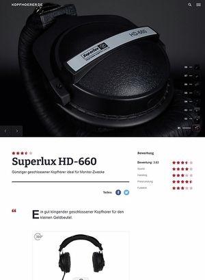 Kopfhoerer.de Superlux HD-660