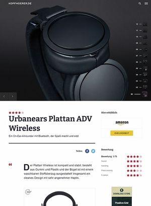 Kopfhoerer.de Urbanears Plattan ADV Wireless Black