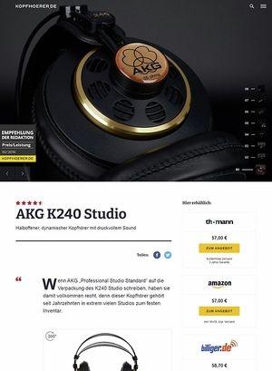 Kopfhoerer.de AKG K-240 Studio