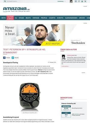 Amazona.de Test: Peterson SP-1 StroboPlus HD, Stimmgerät