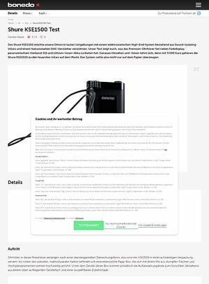 Bonedo.de Shure KSE1500