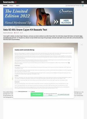 Bonedo.de Sela SE001 Snare Cajon Kit Bausatz
