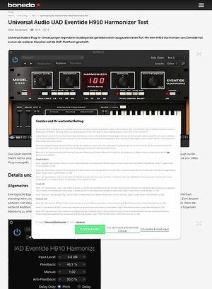 Bonedo.de Universal Audio UAD Eventide H910 Harmonizer Test