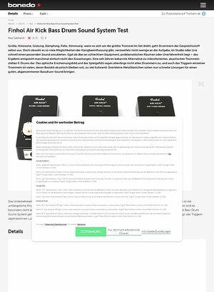 Bonedo.de Finhol Air Kick Bass Drum Sound System