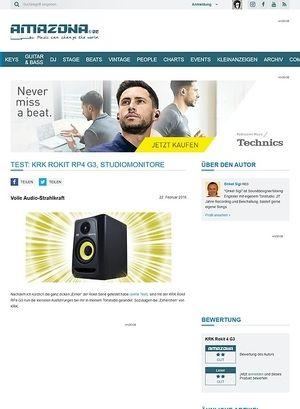 Amazona.de Test: KRK Rokit RP4 G3, Studiomonitore