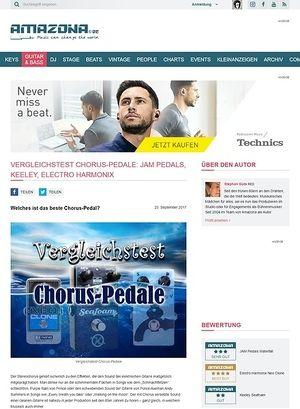 Amazona.de Vergleichstest: Jam Pedals WaterFall, Keeley Seafoam Plus und Electro Harmonix Neo Clone, Chorus Pedale für Gitarre