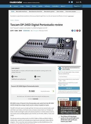 MusicRadar.com Tascam DP-24SD Digital Portastudio