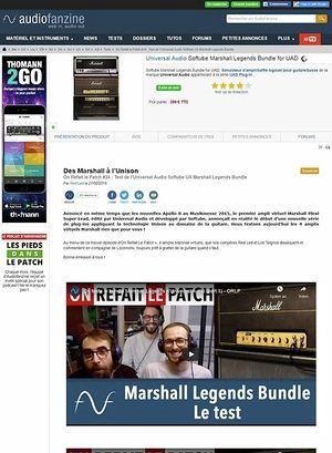 Audiofanzine.com Universal Audio Softube Marshall Legends Bundle for UAD
