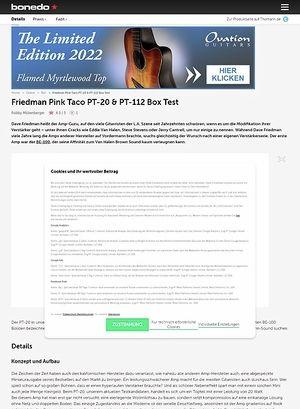 Bonedo.de Friedman Pink Taco PT-20 &  PT-112 Box