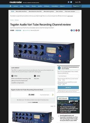 MusicRadar.com Tegeler Audio Vari Tube Recording Channel