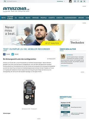 Amazona.de Test: Olympus LS-100, Mobiler Recorder