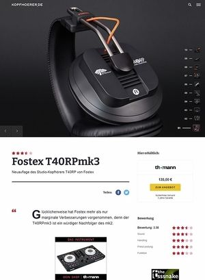 Kopfhoerer.de Fostex T40RP-MK3 Headphone