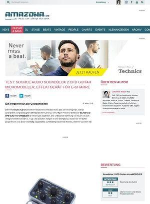 Amazona.de Test: Source Audio Soundblox 2 OFD Guitar microMODELER, Effektgerät für E-Gitarre