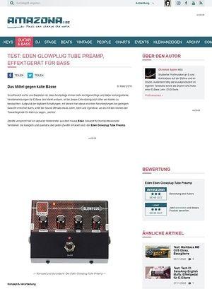 Amazona.de Test: Eden Glowplug Tube Preamp, Effektgerät für Bass