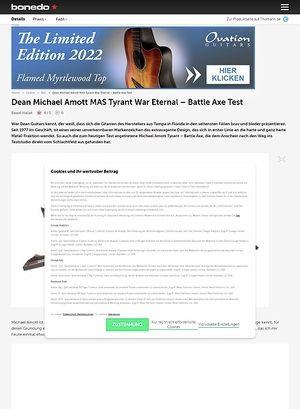 Bonedo.de Dean Michael Amott MAS Tyrant War Eternal - Battle Axe