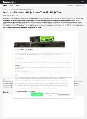 Bonedo.de Markbass Little Mark Ninja & New York 122 Ninja