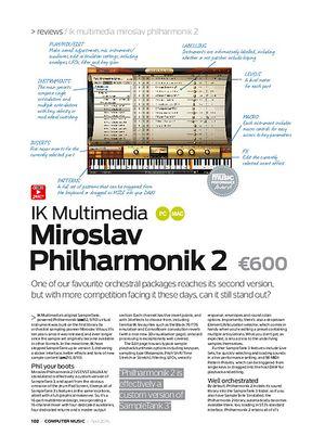 Computer Music IK Multimedia Miroslav Philharmonik 2